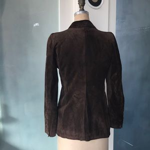 Costume National Jackets & Coats - Fitted Suede blazer with peak lapels.